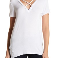 OOBERSWANK | Short Sleeve Cross Tee | Nordstrom Rack