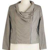 ModCloth Urban Short Length Long Sleeve Show and Behold Jacket in Plus