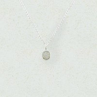 Twinkle White Druzy Round Pendant Necklace 925 Sterling Silver