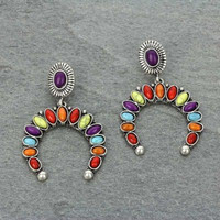 Multicolor Western Stone Earrings