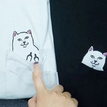 Sassy Cat Pocket Tee
