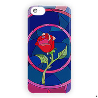 Beauty And Beast Rose Glass Custom For iPhone 5 / 5S / 5C Case