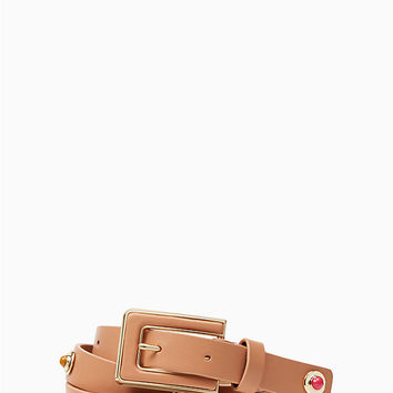 "3/4"" leather belt with enamel and metal studs 