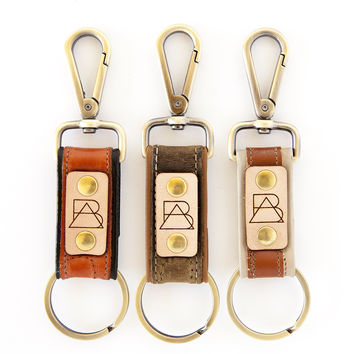 Two-tone Bootstrap Keychain
