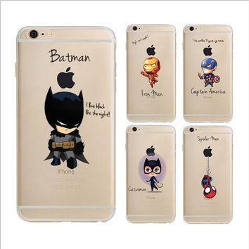 Batman and Avengers Characters Phone Case Cover For iPhone 5 5S SE 6 6S 6 plus