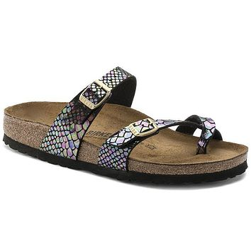 Birkenstock Mayari Birko Flor Shiny Snake Black Multicolor 1005046 Sandals - Best Deal