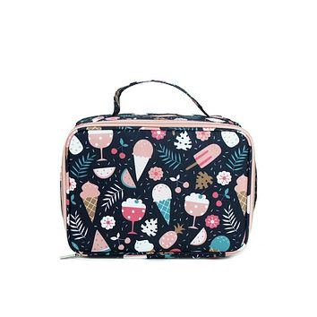Canvas Lunch Bag | Navy Ice Cream
