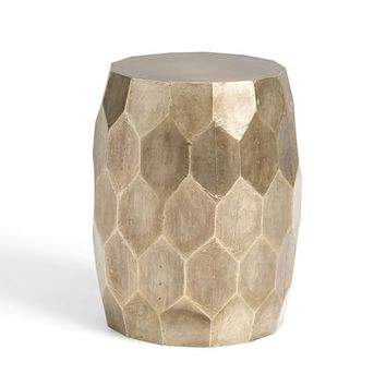 Vince Metal-Clad Accent Stool