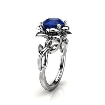 Special Reserved - 2 ct. Natural Sapphire Platinum Ring