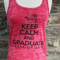 Graduation Tank -- Pink -- Keep Calm and Graduate