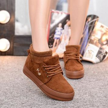 Low-cut Cotton Winter Korean Shoes [79791521817]
