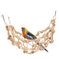 Rope Net Pet Parrot Bird Chew Play Climbing Chewing Toys Swing Ladder Toy with Hook Hanging Pet Birds Supplies