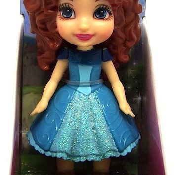 Disney Princess Poseable Merida Sparkle Collection Mini Toddler Doll 3""
