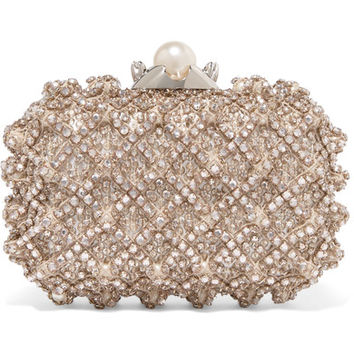 Jimmy Choo - Cloud embellished satin clutch