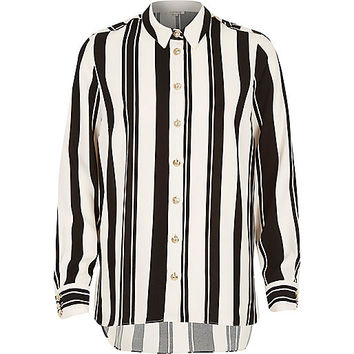 River Island Womens Black stripe long sleeve shirt