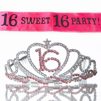 Sweet 16 Tiara and Sash