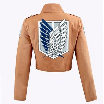 Cool Attack on Titan  jacket no  Legion Cosplay Costumes Embroidery Jacket Coat Cloak Leather Apron AT_90_11