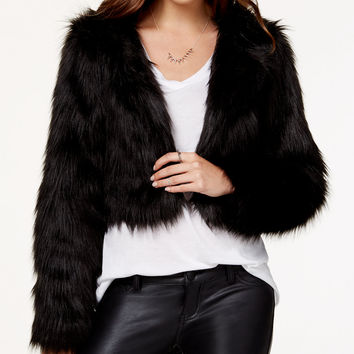 Material Girl Juniors' Faux-Fur Bolero Jacket, Only at Macy's