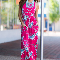 Like No Other Maxi Dress, Fuchsia