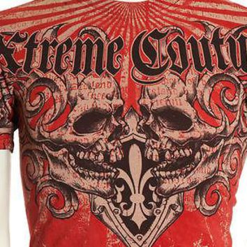 Licensed Official Xtreme Couture AFFLICTION Mens T-Shirt BEASTMAN Skulls Tattoo Biker UFC M-XL $40