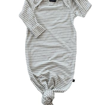 PREORDER Knotted Sleeper 'Light Grey Stripe'