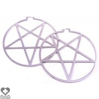 EARRINGS | Pentagram [Silver]