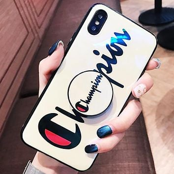 Champion Fashion New Letter Print Mobile Phone Case Cover Protective Case White