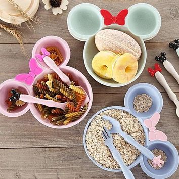 Kids Bowl Set  Food  Tray Dishes