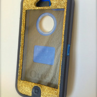 iPhone 5 Otterbox Glitter Cute Sparkly Case Defender Series for Apple iPhone 5 Frost Gold/Navy