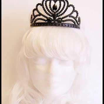 Black Gothic Tiara ( Princess, Crown, Swan, Snow white )