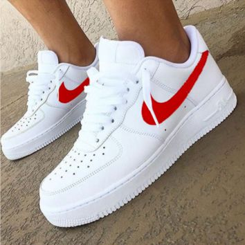 Nike Air Force 1 Classic Fashion New White Low Couple Running Le a09e1f7021