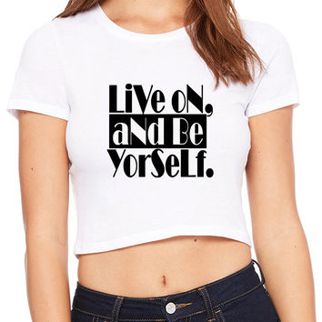 Macklemore And Ryan Lewis Be Yourself Same Love Crop T-shirt