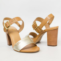 Champion Gold Strap Heel