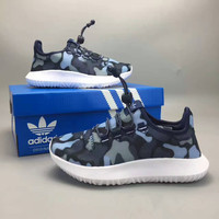 """""""Adidas Tubular Shadow Knit"""" Fashion Casual Coconut Camouflage Breathable Unisex Sneakers Couple Running Shoes"""