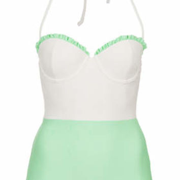 Box Pleat Swimsuit - Mint