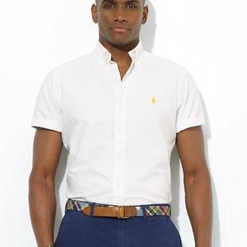Polo Ralph Lauren Classic-Fit Short-Sleeved Oxford Sport Shirt