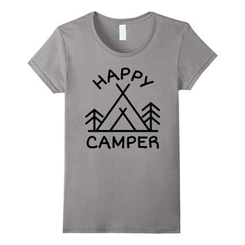 Happy Camper Camping Hiking Outdoors T-Shirt