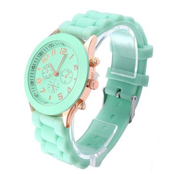 Unisex Silicone Jelly Wrist Watch +Gift Box