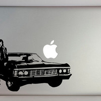 Supernatural inspired Dean with Impala by overlyattacheddecals