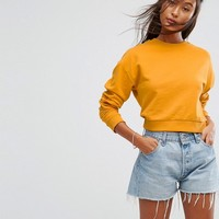 ASOS Cropped Sweatshirt at asos.com