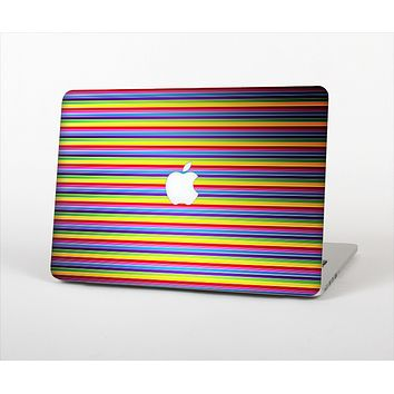 """The Horizontal Multicolored Stripes Skin Set for the Apple MacBook Air 11"""""""