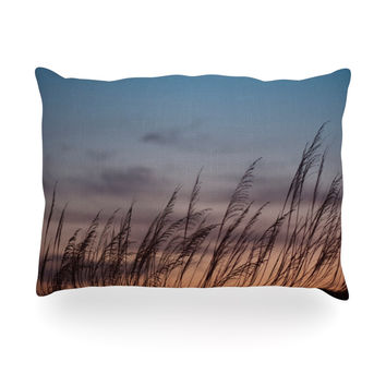 "Catherine McDonald ""Sunset on the Beach"" Oblong Pillow"