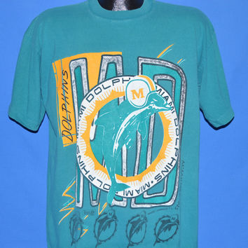 90s Miami Dolphins t-shirt Large