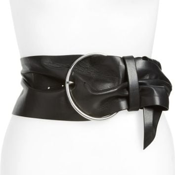 IRO Balacia Wide Lambskin Leather Belt | Nordstrom
