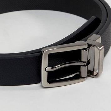 Ben Sherman Skinny Reversible Leather Belt at asos.com