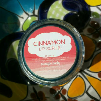 Cinnamon Lip Scrub ~ Lip Polish ~ Lip Exfoliation ~ Lip Sugar Scrub