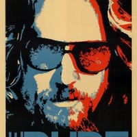 The Big Lebowski Movie (The Dude) Poster Print - 24x36 custom fit with RichAndFramous Black 24 inch Poster Hangers