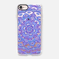 Radiant Cobalt & Royal Purple Mandala on Transparent iPhone 7 Case by Micklyn Le Feuvre | Casetify