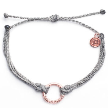 Pura Vida - Rose Gold Circle Bracelet | Gray
