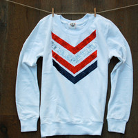 Sequin Chevron Sweatshirt Jumper Fourth of July